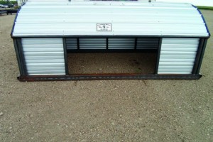 7 ft x 12 ft calf shelter