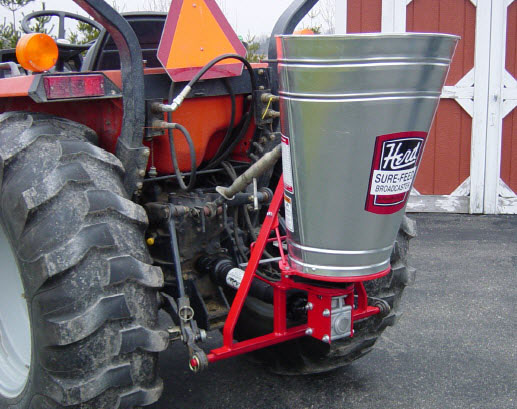 Tractor Seed Spreader Parts : Point hitch broadcast spreaders prairie states seed