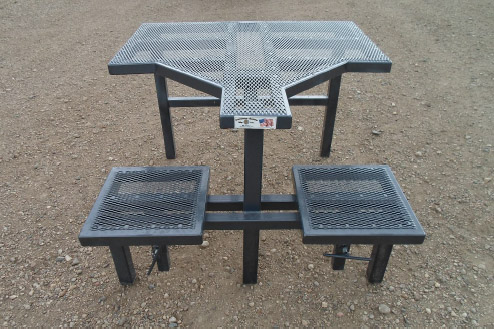 Atv Utv Driver Over Ramp Gate Shooting Table And Benches